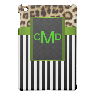 El monograma verde del leopardo raya la caja de la