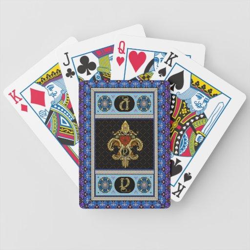 El monograma Y una de las tarjetas de una opinión Barajas De Cartas