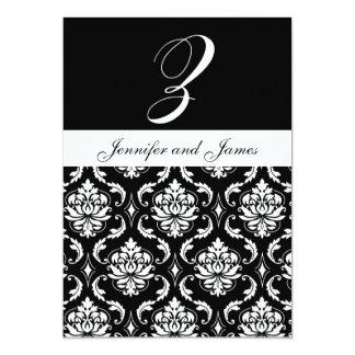 El monograma Z nombra invitaciones negras del boda Comunicado Personal