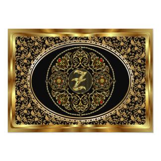 El monograma Z uno de una opinión de la clase Invitacion Personal