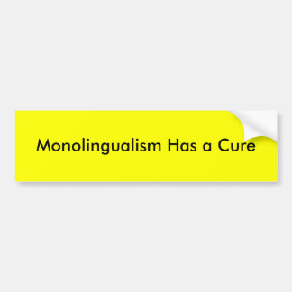 el monolingualism tiene una curación pegatina para auto