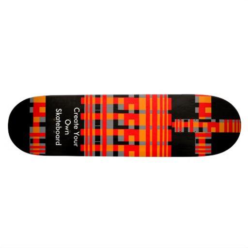 El monopatín crea sus los propios tablas de patinar