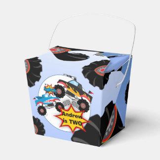 El monster truck embroma cumpleaños del muchacho caja para regalos de fiestas