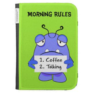 El monstruo azul con café de la mañana gobierna la