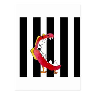"""El """"monstruo """"creó del dibujo de los 8 años tarjetas postales"""