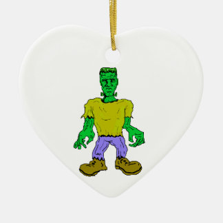 El monstruo de Frankenstein Adorno Navideño De Cerámica En Forma De Corazón