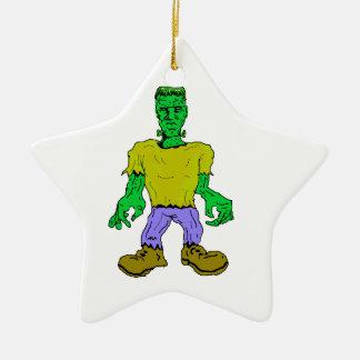 El monstruo de Frankenstein Adorno Navideño De Cerámica En Forma De Estrella