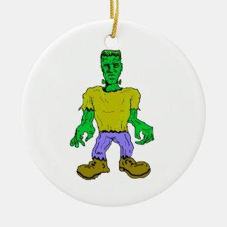 El monstruo de Frankenstein Adorno Navideño Redondo De Cerámica
