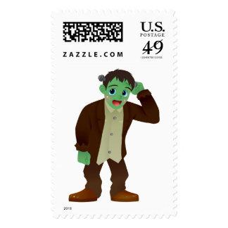 El monstruo de Frankenstein de ruborización que Sello