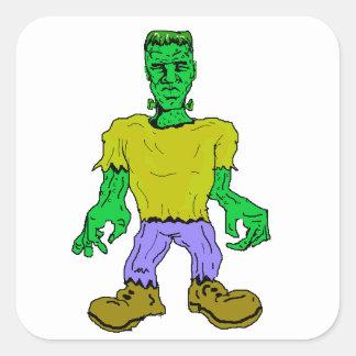 El monstruo de Frankenstein Pegatina Cuadrada
