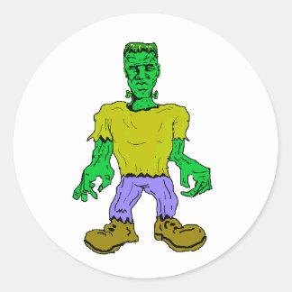 El monstruo de Frankenstein Pegatina Redonda