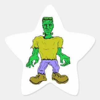 El monstruo de Frankenstein Pegatina En Forma De Estrella