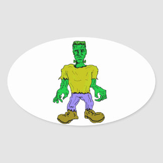 El monstruo de Frankenstein Pegatina Ovalada