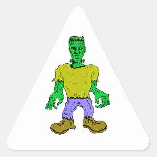 El monstruo de Frankenstein Pegatina Triangular