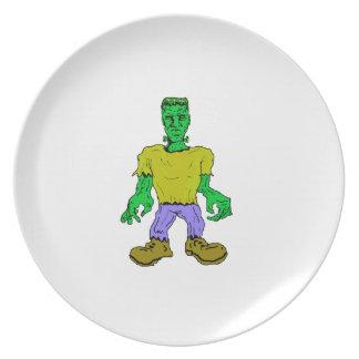 El monstruo de Frankenstein Platos