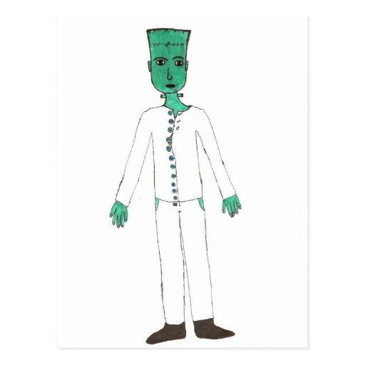 El monstruo de Frankenstein Tarjeta Postal