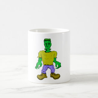 El monstruo de Frankenstein Taza Básica Blanca