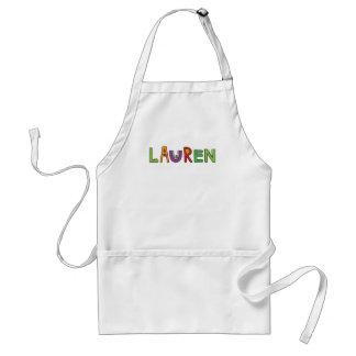 """El monstruo de """"Lauren"""" pone letras al delantal"""