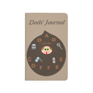 El monstruo divertido del papá ama el diario del cuaderno