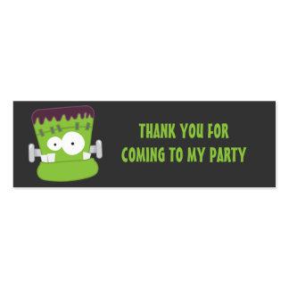 El monstruo lindo de Frankenstein le agradece Tarjetas De Visita Mini