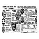 El monstruo retro del kitsch del vintage de Hallow Postales