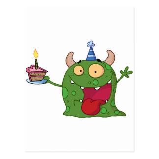 El monstruo verde celebra cumpleaños con la torta postales