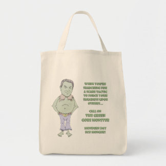El monstruo verde de Gore Bolsa Tela Para La Compra