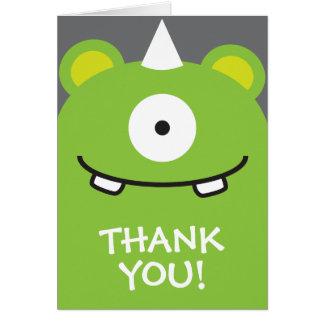 El monstruo verde le agradece tarjetas