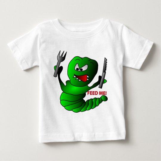 El monstruo verde me alimenta la camiseta del bebé