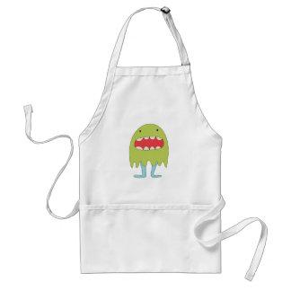 El monstruo verde ríe =) adult apron