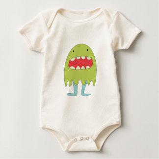 El monstruo verde ríe =) baby bodysuit