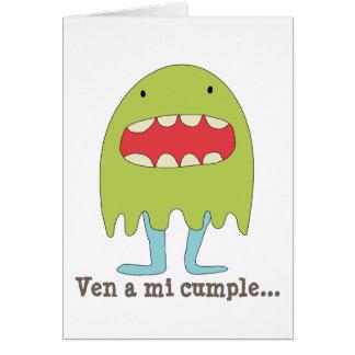 El monstruo verde ríe =) card