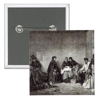 """El Mont de Piete, a partir de la """"hora del ocio"""",  Pin Cuadrada 5 Cm"""