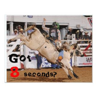 """el montar a caballo del toro invita invitación 4.25"""" x 5.5"""""""