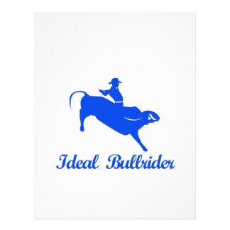 el montar a caballo del toro se divierte diseños plantilla de membrete