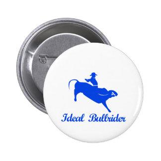 el montar a caballo del toro se divierte diseños pin redondo 5 cm