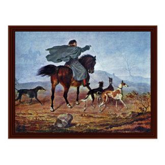 El montar a la caza de Francisco Krüger Tarjetas Postales