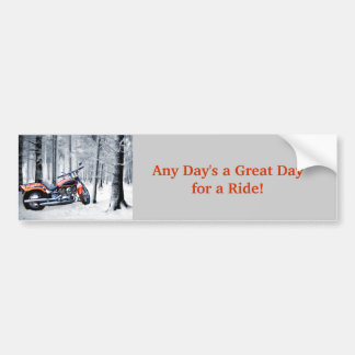 El montar a través de las maderas en un día Nevado Pegatina Para Auto