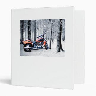 """El montar a través de las maderas en un día Nevado Carpeta 1"""""""