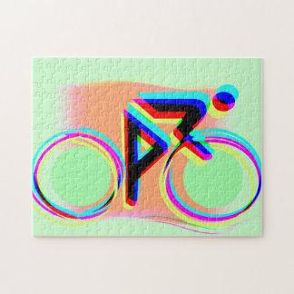 El montar en bicicleta artsy puzzles con fotos