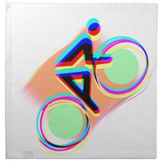 El montar en bicicleta artsy servilletas de papel