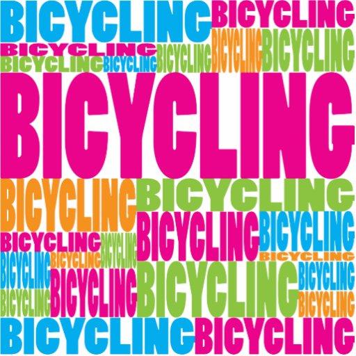 El montar en bicicleta colorido adorno fotoescultura