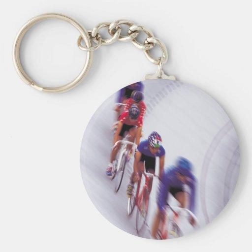 El montar en bicicleta del ciclo de la bicicleta d llavero redondo tipo pin