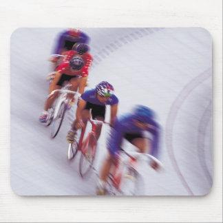 El montar en bicicleta del ciclo de la bicicleta d alfombrilla de raton