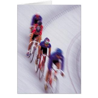 El montar en bicicleta del ciclo de la bicicleta tarjeta de felicitación