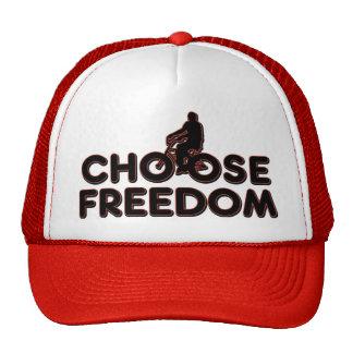 El montar en bicicleta elige la libertad gorra
