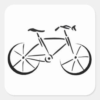 El montar en bicicleta pegatina cuadrada