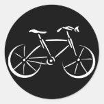 El montar en bicicleta pegatinas redondas