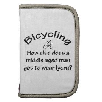 El montar en bicicleta planificadores