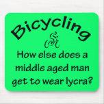 El montar en bicicleta tapetes de raton
